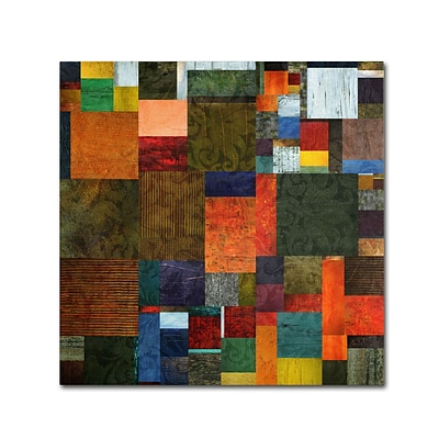 Trademark Michelle Calkins Brocade Color Collage 3 Gallery-Wrapped Canvas Art, 14 x 14