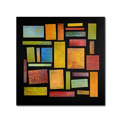 Trademark Michelle Calkins Building Blocks Four Gallery-Wrapped Canvas Art, 18 x 18