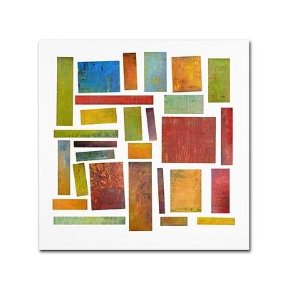 Trademark Michelle Calkins Building Blocks One Gallery-Wrapped Canvas Art, 18 x 18