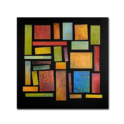 Trademark Michelle Calkins Building Blocks Three Gallery-Wrapped Canvas Art, 18 x 18