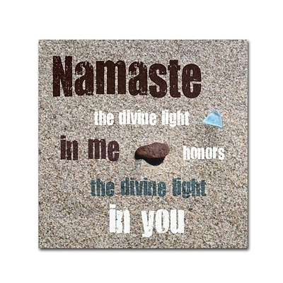 Trademark Michelle Calkins Namaste with Pebble... Gallery-Wrapped Canvas Art, 35 x 35