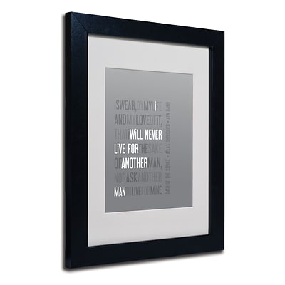 Trademark Megan Romo Oath of the Strike I Art, White Matte W/Black Frame, 11 x 14