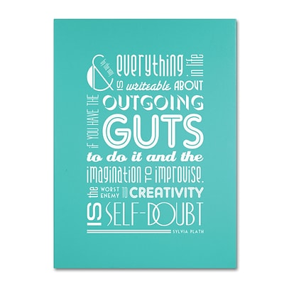 Trademark Megan Romo Outgoing Guts III Gallery-Wrapped Canvas Art, 14 x 19