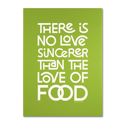 Trademark Megan Romo Sincere Love of Food Gallery-Wrapped Canvas Art, 14 x 19