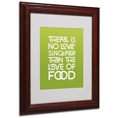 Trademark Megan Romo Sincere Love of Food Art, White Matte W/Wood Frame, 11 x 14