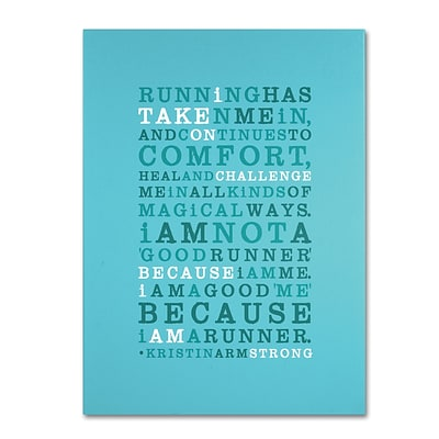 Trademark Megan Romo Strong Runner Gallery-Wrapped Canvas Art, 18 x 24