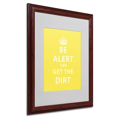 Trademark Megan Romo Get the Dirt IV Art, White Matte W/Wood Frame, 16 x 20