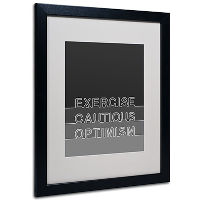 Trademark Megan Romo Cautious Optimism Art, White Matte W/Black Frame, 16 x 20