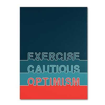 Trademark Megan Romo Cautious Optimism II Gallery-Wrapped Canvas Art, 14 x 19