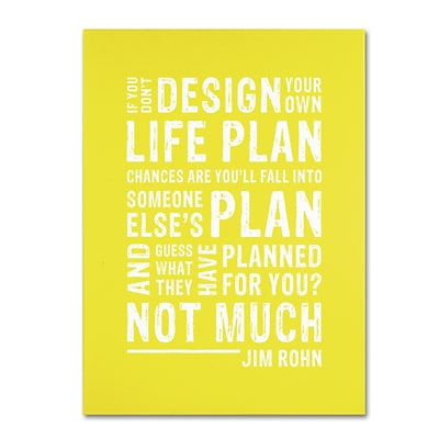 Trademark Megan Romo Design Your Own Life II Gallery-Wrapped Canvas Art, 18 x 24