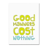 Trademark Megan Romo Good Manners Gallery-Wrapped Canvas Art, 18 x 24