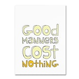 Trademark Megan Romo Good Manners II Gallery-Wrapped Canvas Art, 14 x 19