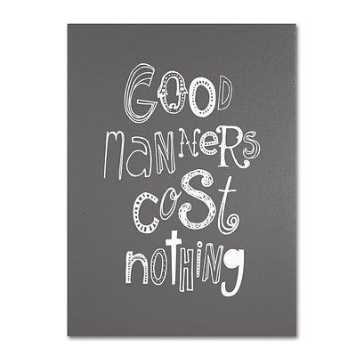Trademark Megan Romo Good Manners IV Gallery-Wrapped Canvas Art, 18 x 24