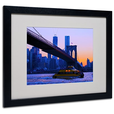 Trademark CATeyes Fall Comes to Downer Art, White Matte W/Black Frame, 16 x 20