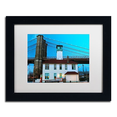 Trademark CATeyes Brooklyn 1 Art, White Matte W/Black Frame, 11 x 14