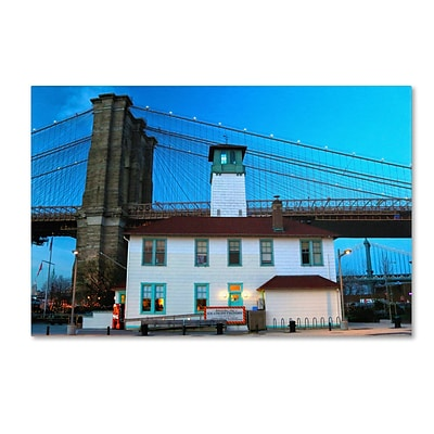 Trademark CATeyes Brooklyn 1 Gallery-Wrapped Canvas Art, 16 x 24