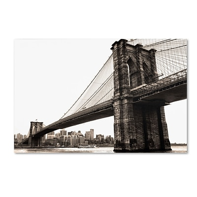 Trademark CATeyes Brooklyn Bridge 2 Gallery-Wrapped Canvas Art, 30 x 47
