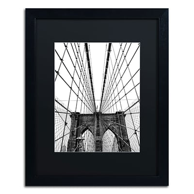 Trademark CATeyes Brooklyn Bridge 3 Art, Black Matte W/Black Frame, 16 x 20