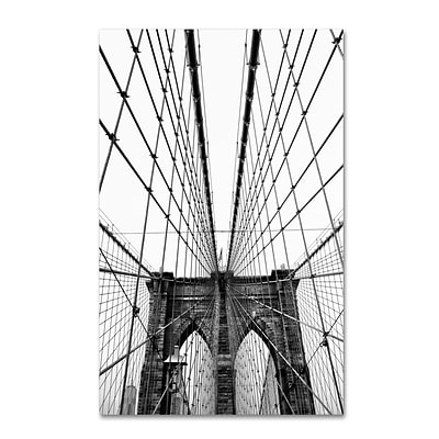 Trademark CATeyes Brooklyn Bridge 3 Gallery-Wrapped Canvas Art, 16 x 24