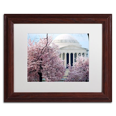 Trademark CATeyes Cherry Blossoms 2014-7 Art, White Matte W/Wood Frame, 11 x 14