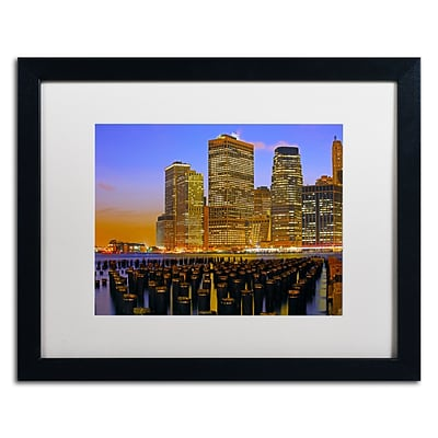 Trademark CATeyes City Lights 2 Art, White Matte W/Black Frame, 16 x 20