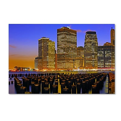 Trademark CATeyes City Lights 2 Gallery-Wrapped Canvas Art, 16 x 24