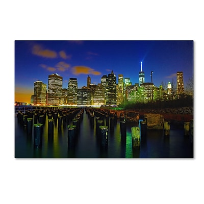 Trademark CATeyes City Lights 1 Gallery-Wrapped Canvas Art, 30 x 47