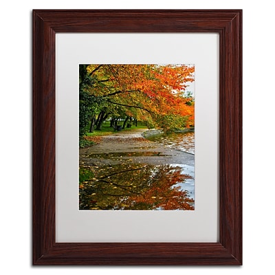 Trademark CATeyes Tidal Basin Autumn 1 Art, White Matte W/Wood Frame, 11 x 14
