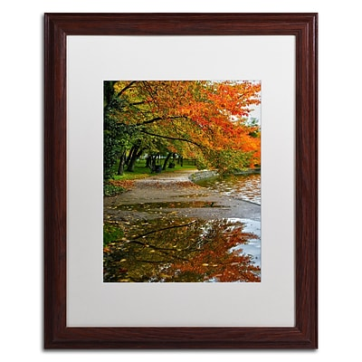 Trademark CATeyes Tidal Basin Autumn 1 Art, White Matte W/Wood Frame, 16 x 20