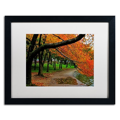 Trademark CATeyes Tidal Basin Autumn 2 Art, White Matte W/Black Frame, 16 x 20