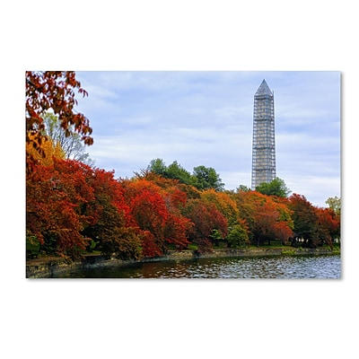 Trademark CATeyes Tidal Basin Autumn 3 Gallery-Wrapped Canvas Art, 22 x 32