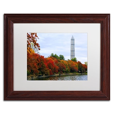 Trademark CATeyes Tidal Basin Autumn 3 Art, White Matte W/Wood Frame, 11 x 14