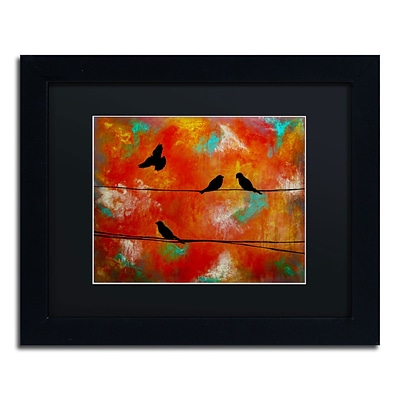 Trademark Nicole Dietz Birds of Flight Art, Black Matte With Black Frame, 11 x 14