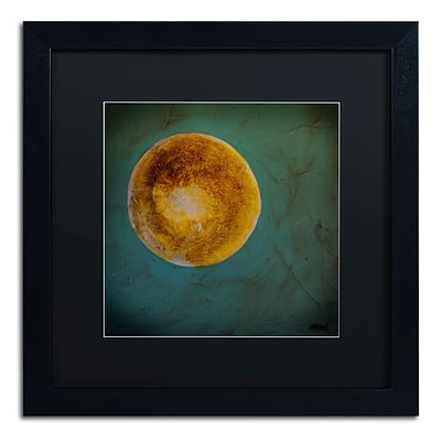 Trademark Nicole Dietz Moon on Blue Art, Black Matte With Black Frame, 16 x 16