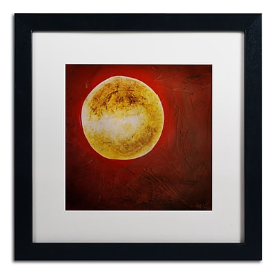 Trademark Nicole Dietz Moon on Red Art, White Matte With Black Frame, 16 x 16