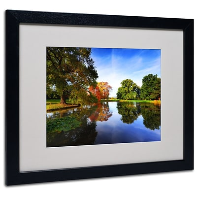 Trademark Philippe Sainte-Laudy Autumnal Beauty Art, White Matte With Black Frame, 16 x 20