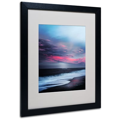 Trademark Philippe Sainte-Laudy Salt Water Sound Art, White Matte With Black Frame, 16 x 20