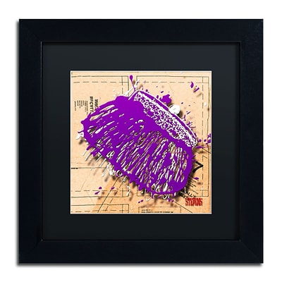 Trademark Roderick Stevens Snap Purse Purple Art, Black Matte With Black Frame, 11 x 11