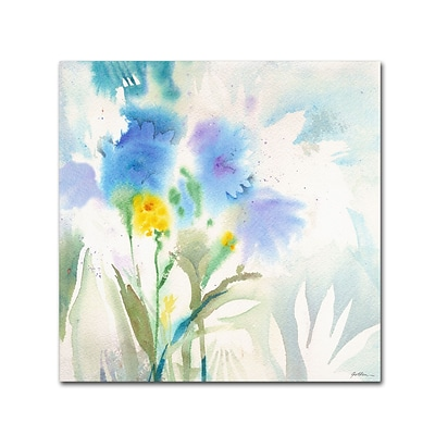 Trademark Sheila Golden Blue Reflections Gallery-Wrapped Canvas Art, 35 x 35