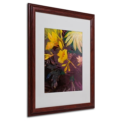 Trademark Sheila Golden Tropical Evening Art, White Matte With Wood Frame, 16 x 20