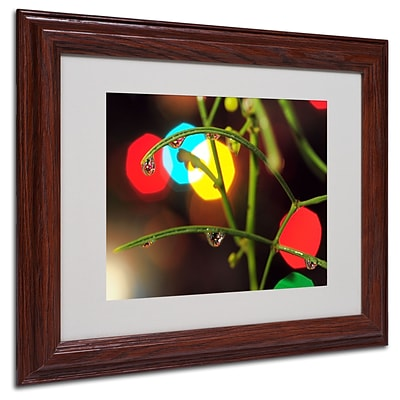 Trademark Steve Wall Drops of Christmas Past Art, White Matte W/Wood Frame, 11 x 14