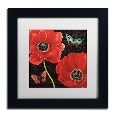 Trademark Daphne Brissonnet Petals and Wings II Art, White Matte W/Black Frame, 11 x 11