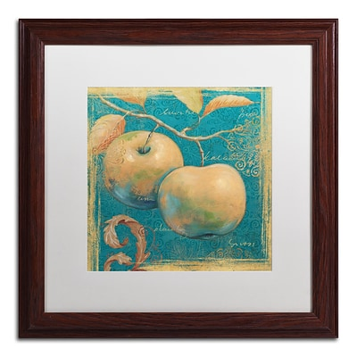 Trademark Daphne Brissonnet Lovely Fruits II Art, White Matte W/Wood Frame, 16 x 16