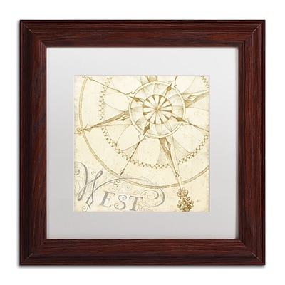 Trademark Daphne Brissonnet Coast to Coast Sepia IV Art, White Matte W/Wood Frame, 11 x 11