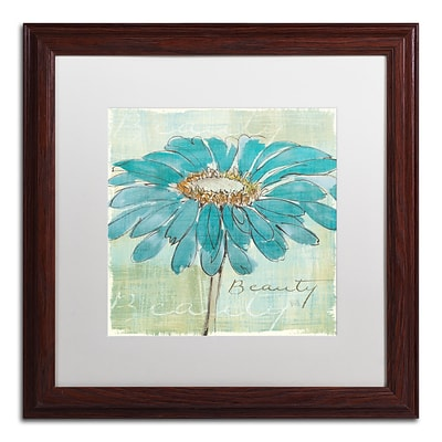 Trademark Chris Paschke Spa Daisies I Art, White Matte With Wood Frame, 16 x 16