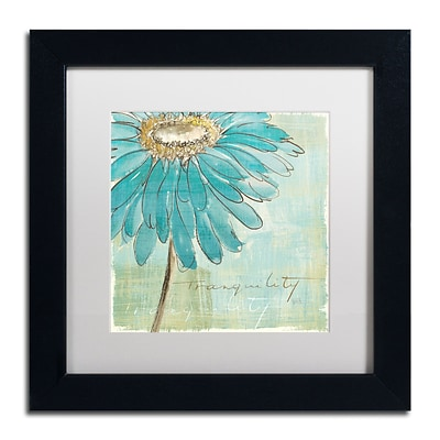 Trademark Chris Paschke Spa Daisies III Art, White Matte With Black Frame, 11 x 11