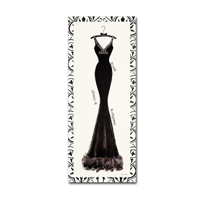 Trademark Emily Adams Couture Noir Original I with Border Gallery-Wrapped Canvas Art, 8 x 19