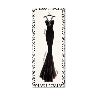 Trademark Emily Adams Couture Noir Original III with Border Gallery-Wrapped Canvas Art, 14 x 32