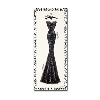 Trademark Emily Adams Couture Noir Original IV with Border Gallery-Wrapped Canvas Art, 14 x 32
