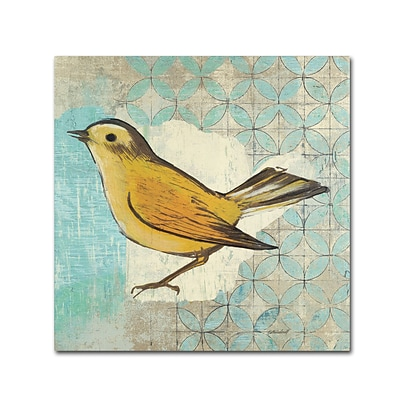 Trademark Kathrine Lovell Wilson Warbler II Gallery-Wrapped Canvas Art, 14 x 14